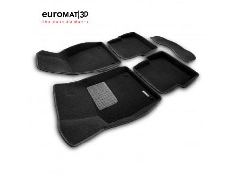 Текстильные 3D коврики Euromat3D Business в салон для Audi A6 (2004-2010) № EMC3D-001109