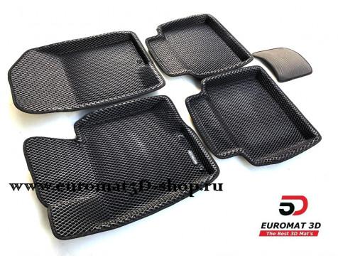 3D коврики Euromat3D EVA в салон для Hyundai Grandeur (2011-) № EM3DEVA-002912