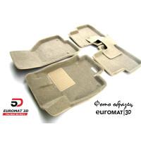 Текстильные 3D коврики Euromat3D Business в салон для Mercedes CLA-Class (C118) (2019-) № EMC3D-003510T Бежевые