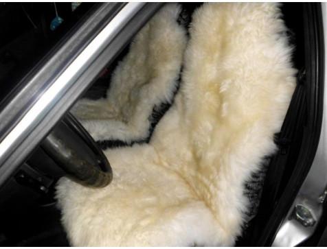 Меховая накидка из натуральной овчины Euromat|Tex (цельная не стриженная ) бежевая № EUSH-003003
